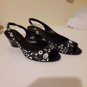 Moda Spana Floral Sling back Shoes